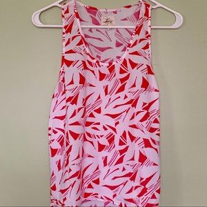 Levi's pink and white racerback tank
